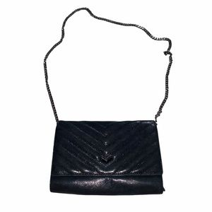 Botkier Leather Quilted Soho Crossbody Clutch Bag